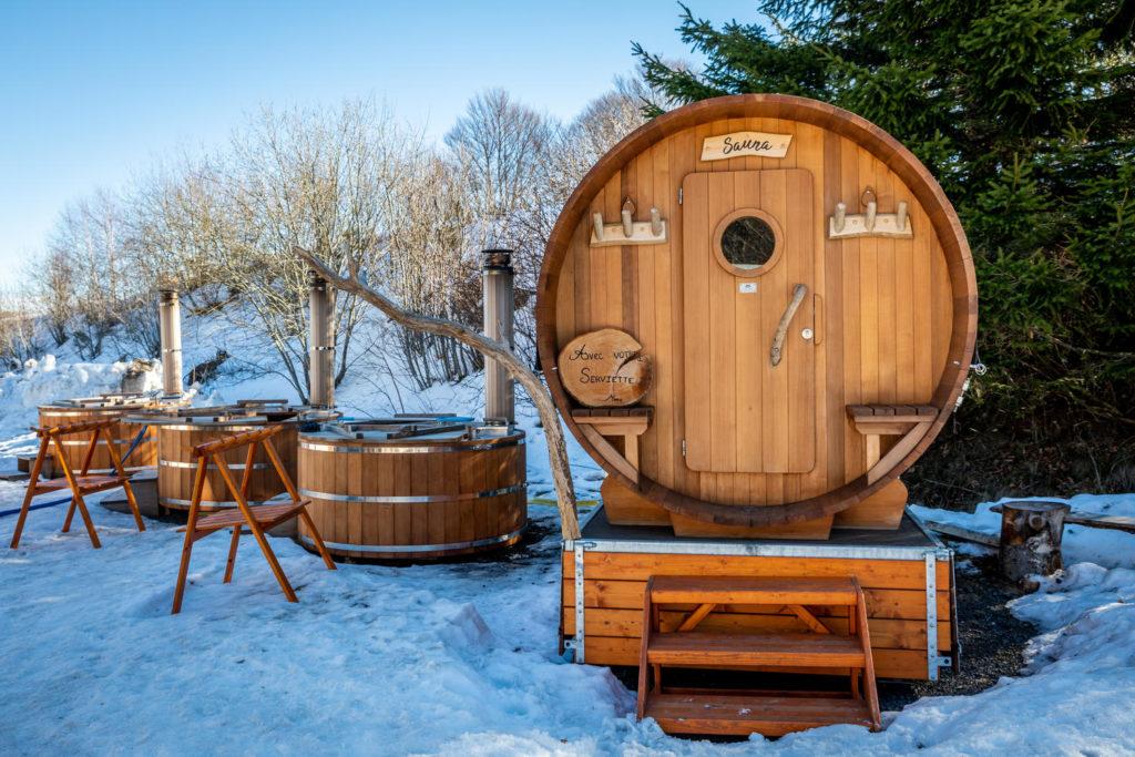 Sauna sur le domaine du Haut Cantal Puy Mary