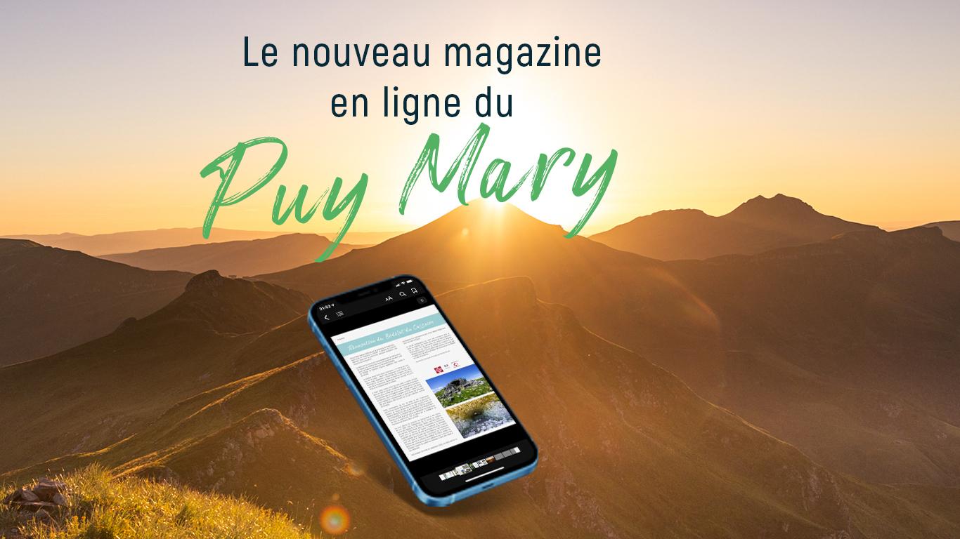 Bannière annonce magazine Puy Mary