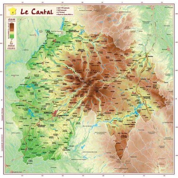 Carte Géorelief Cantal