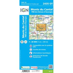 Carte IGN 2435OT Monts du Cantal