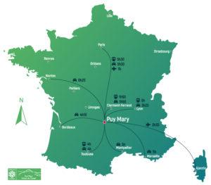 Temps de trajet pour venir au Puy Mary