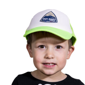 Casquette filet verte enfant