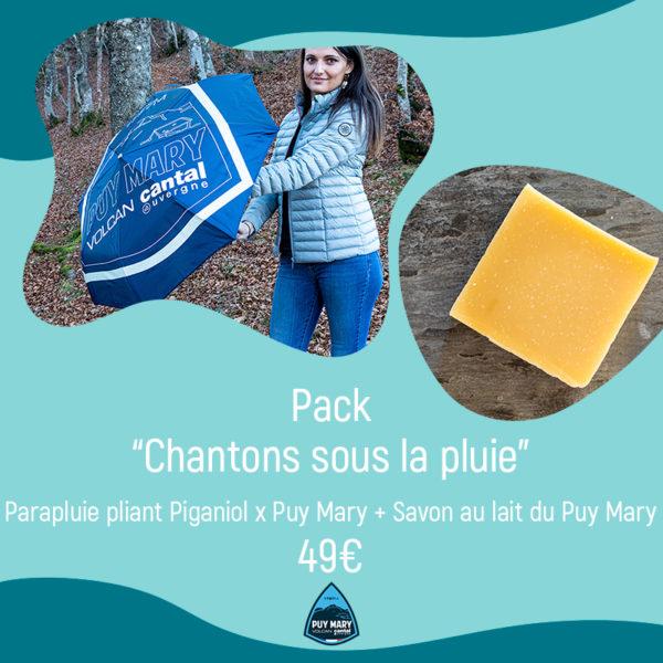 Pack chantons sous la pluie : Parapluie plaint Piganiol x Puy Mary + Savon au lait