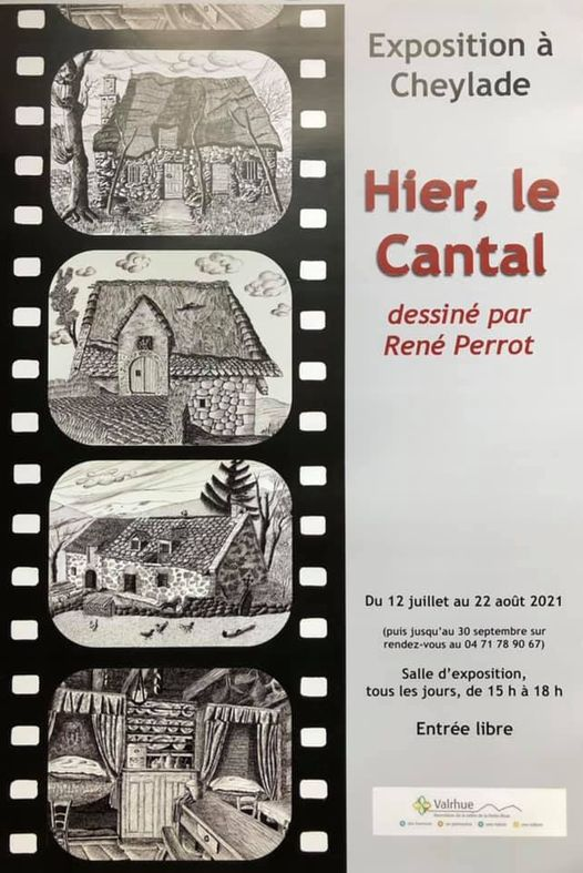 Affiche exposition hier le cantal