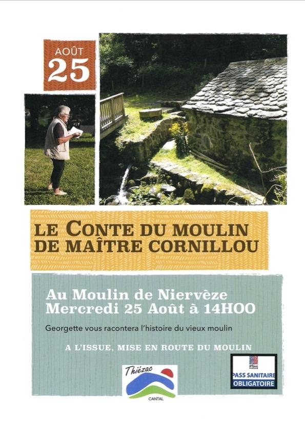 Affiche conte du moulin de maitre cornillou
